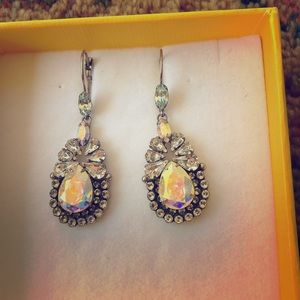 Sorrelli earrings, vibrant sparkling stones/silver
